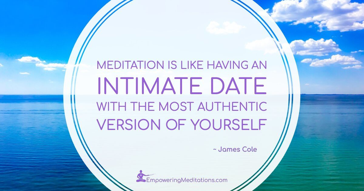 Meme - Meditation is like having an intimate date - Post