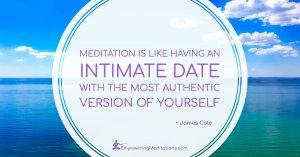 Meme - Meditation is like having an intimate date - Post