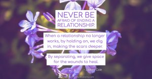 Meme - Never be afraid of ending a relationship - Page